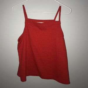 Red Textured Tank Top - NWT